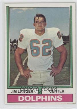 1974 Topps - [Base] #397 - Jim Langer