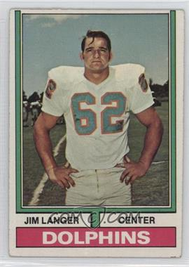 1974 Topps - [Base] #397 - Jim Langer [Good to VG‑EX]