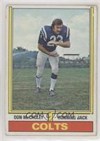 Don McCauley (1972 Stats on Back) [GoodtoVG‑EX]