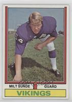 Milt Sunde (1972 Stats on back)