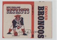 New England Patriots Logo, Denver Broncos