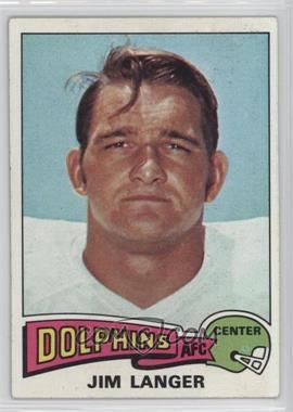 1975 Topps - [Base] #196 - Jim Langer