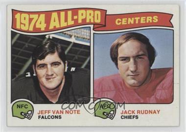 1975 Topps - [Base] #204 - Jeff Van Note, Jack Rudnay
