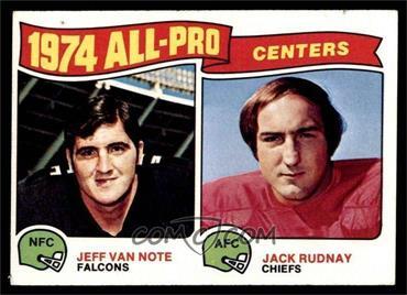 1975 Topps - [Base] #204 - Jeff Van Note, Jack Rudnay [GOOD]