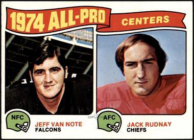 1975 Topps - [Base] #204 - Jeff Van Note, Jack Rudnay [NM]