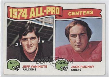 1975 Topps - [Base] #204 - Jeff Van Note, Jack Rudnay [Good to VG‑EX]