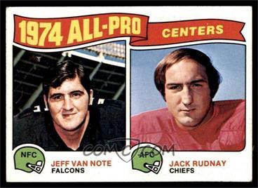 1975 Topps - [Base] #204 - Jeff Van Note, Jack Rudnay [VGEX]