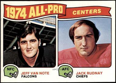 1975 Topps - [Base] #204 - Jeff Van Note, Jack Rudnay [NMMT]