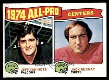 1975 Topps - [Base] #204 - Jeff Van Note, Jack Rudnay [VG]