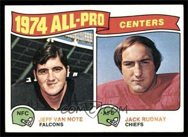1975 Topps - [Base] #204 - Jeff Van Note, Jack Rudnay [EXMT]