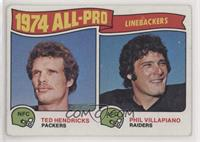 Phil Villapiano, Ted Hendricks [Good to VG‑EX]