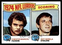 1974 NFL Leaders - Chester Marcol, Roy Gerela [NM MT]