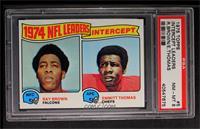 1974 NFL Leaders - Ray Brown, Emmitt Thomas [PSA8NM‑MT]