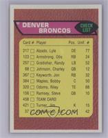 Denver Broncos Team Checklist [NearMint]
