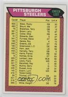Pittsburgh Steelers Team Checklist