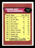 Tampa Bay Buccaneers Team Checklist [VG]