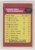 Tampa Bay Buccaneers Team Checklist [PoortoFair]