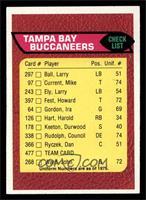Tampa Bay Buccaneers Team Checklist [EXMT]