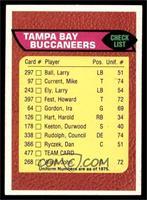 Tampa Bay Buccaneers Team Checklist [NMMT]