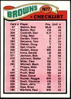 Browns Checklist [NM]