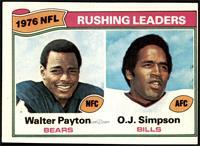 Walter Payton, O.J. Simpson [VG]