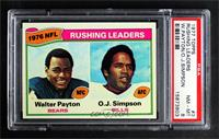 Walter Payton, O.J. Simpson [PSA8NM‑MT]
