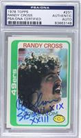 Randy Cross [PSA/DNACertifiedAuto]