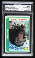 Randy Cross [PSA/DNA Certified Encased]