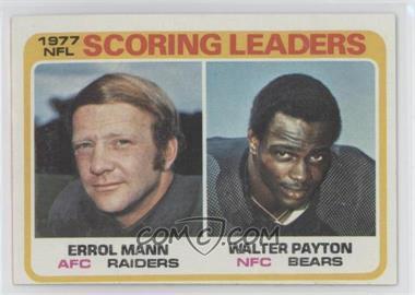 1978 Topps - [Base] #334 - Errol Mann, Walter Payton