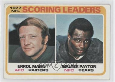 1978 Topps - [Base] #334 - Errol Mann, Walter Payton [Good to VG‑EX]