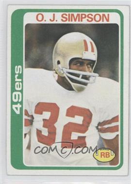 1978 Topps - [Base] #400 - O.J. Simpson