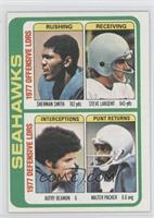 Sherman Smith, Steve Largent, Autry Beamon, Walter Packer