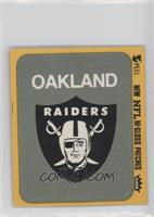Oakland Raiders Logo (Yellow Border)
