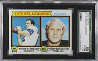 Passing Leaders (Roger Staubach, Terry Bradshaw) [SGC 80 EX/NM 6]