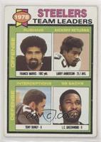 Franco Harris, Larry Anderson, Tony Dungy, L.C. Greenwood)