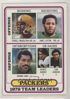 Terdell Middleton, James Lofton, Johnnie Gray, Robert Barber, Ezra Johnson