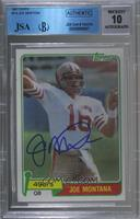 Joe Montana [JSA Certified Encased by BGS]