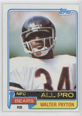 1981 Topps - [Base] #400 - Walter Payton