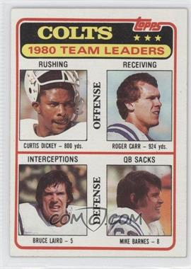 1981 Topps - [Base] #411 - Colts 1980 Team Leaders (Curtis Dickey, Roger Carr, Bruce Laird, Mike Barnes)