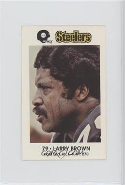 1982 Coca-Cola/Kiwanis Club Pittsburgh Steelers - [Base] #79 - Larry Brown