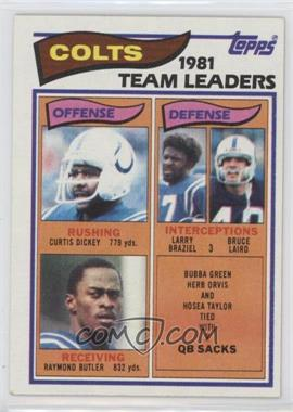 1982 Topps - [Base] #10 - Baltimore Colts Team