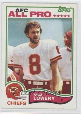 1982 Topps - [Base] #120 - Nick Lowery