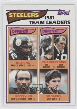 1982 Topps - [Base] #202 - Pittsburgh Steelers Team
