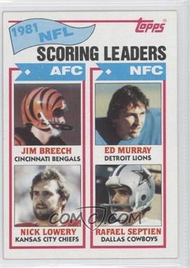 1982 Topps - [Base] #260 - Nick Lowery, Rafael Septien, Jim Breech, Ed Murray