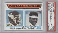 Football Brothers - Eddie and Walter Payton [PSA 8]