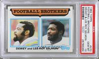 Football Brothers - Dewey and Lee Roy Selmon [PSA 10]