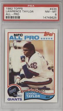 1982 Topps - [Base] #434 - Lawrence Taylor [PSA 8 NM‑MT]