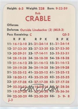 1983 APBA Football 1982 Season - [Base] #BOCR.2 - Bob Crable