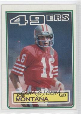 1983 Topps - [Base] #169 - Joe Montana
