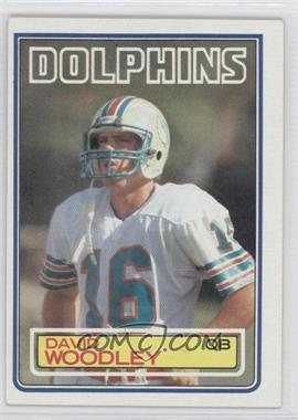 1983 Topps - [Base] #323 - David Woodley
